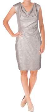 Vince Camuto Women's Metallic Cowl Neck Dress (14, Blush)