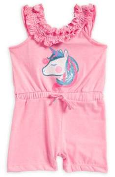 Little Lass Baby Girl's Unicorn Romper
