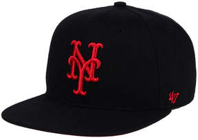 '47 New York Mets Black Red Shot Snapback Cap