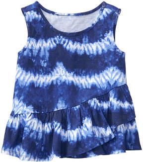 Gymboree Blue Shibori Peplum Tank - Infant, Toddler & Girls
