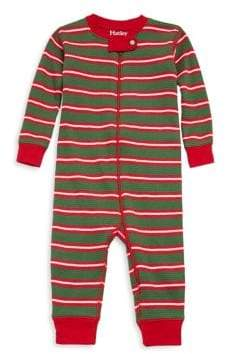 Hatley Baby's Santa Striped Mini Waffle Coverall