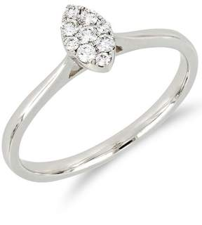 Bony Levy 18K White Gold Diamond Marquise Ring - 0.14 ctw