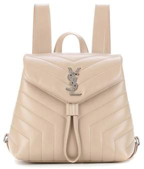 Saint Laurent Small Loulou leather backpack - BEIGE - STYLE