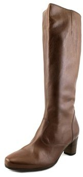 Gabor 56-599 W Round Toe Leather Knee High Boot.