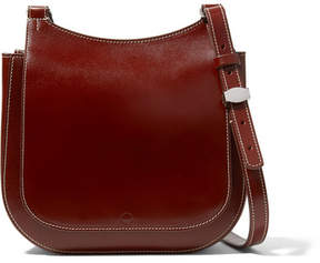 The Row Hunting 9 Patent-leather Shoulder Bag - Chocolate