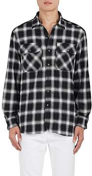 Ovadia & Sons Men's Ian Plaid Cotton Flannel Oversized Shirt