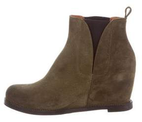Buttero Suede Wedge Ankle Boots w/ Tags