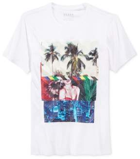 GUESS Mens The Recipe Graphic T-Shirt White S