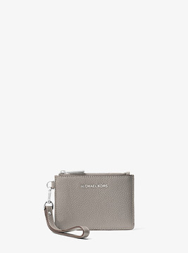 Michael Kors Mercer Leather Coin Purse - GREY - STYLE