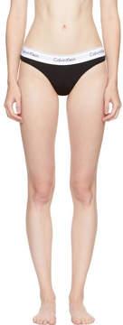 Calvin Klein Underwear Black Modern Cotton Thong