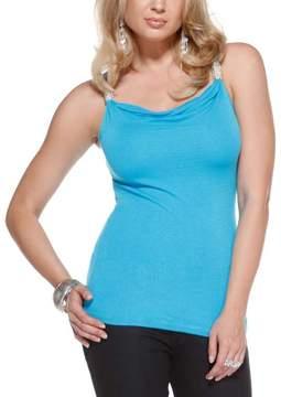 Belldini Blue Bliss Embellished-Strap Tank - Women