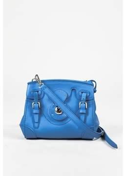Ralph Lauren Pre-owned Blue Leather Mini ricky Crossbody Bag.