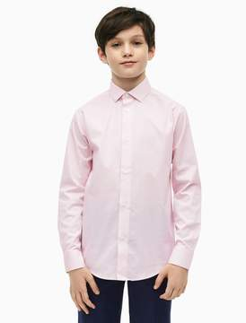 Calvin Klein boys cotton stretch honeycomb shirt