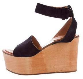 Celine Suede Wedge Sandals