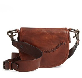 Frye Mini Melissa Whipstitch Leather Saddle Bag - Brown