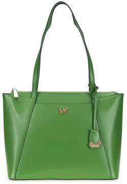 Michael Kors Maddie Medium Leather Tote- True Green - ONE COLOR - STYLE