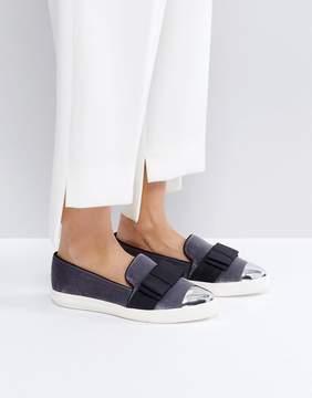 Miss KG Lisa Velvet Bow Slip On Sneakers