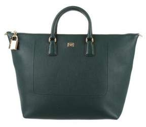 Dolce & Gabbana Pebbled Leather Satchel