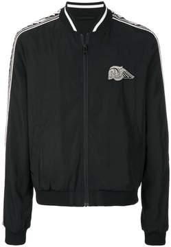 Just Cavalli skull patch bomber jacket
