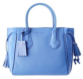 Longchamp Penelope Fantaisie Small Leather & Suede Tote. - LIGHT BLUE - STYLE