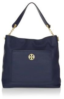 Tory Burch Chelsea Chain Leather Hobo Bag - ROYAL NAVY - STYLE