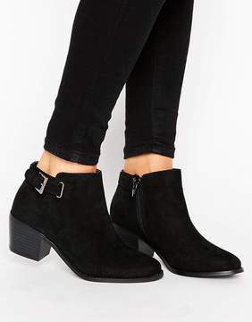 Head Over Heels Buckle Heel Boot