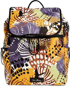 Vera Bradley Painted Feathers Lighten Up Drawstring Backpack - PAINTED - STYLE