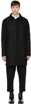 MAISON KITSUNÉ Grey Classic Wool Coat