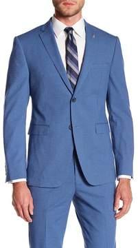 Original Penguin Bright Blue Seersucker Gingham Two Button Notch Lapel Suit Separates Jacket