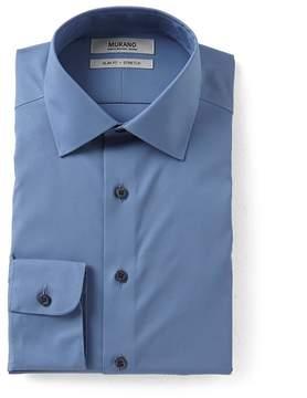 Murano Stretch Slim Fit Spread Collar Solid Dress Shirt