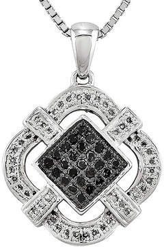 Black Diamond FINE JEWELRY 1/3 CT. T.W. White and Color-Enhanced Pendant Necklace