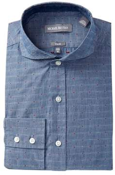 Michael Bastian Trim Fit Indigo Clip Dress Shirt