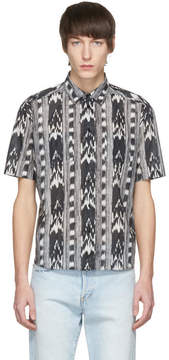 Saint Laurent Black and White Ikat Shirt