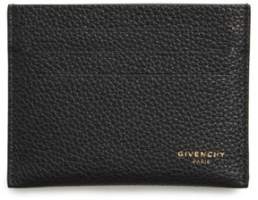 Men's Givenchy Leather Card Case - Black