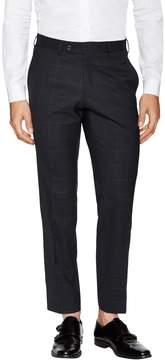 Lubiam Men's Wool Windowpane Trousers