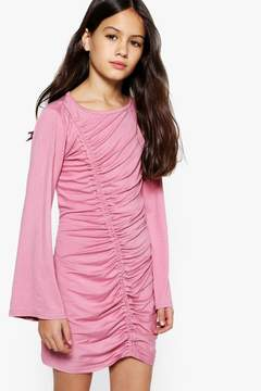 boohoo Girls Wide Sleeve Rouche Front