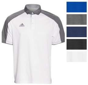 adidas Men's Modern Varsity Short Sleeve Polo (Medium, White/Onix)