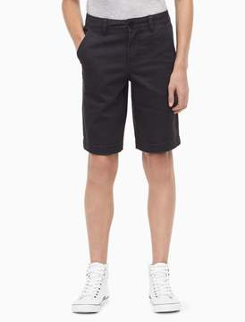 Calvin Klein boys cotton stretch twill shorts