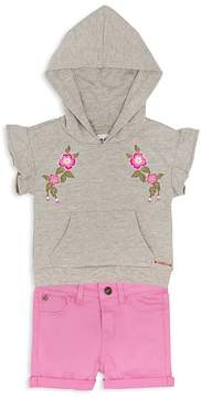 Hudson Girls' Embroidered Hoodie & Cuffed Shorts Set - Baby