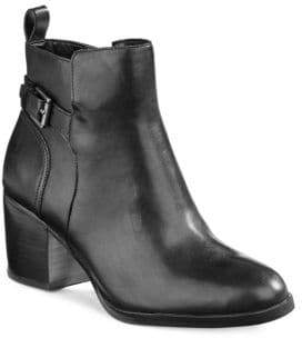 Lauren Ralph Lauren Genna Buckled Leather Ankle Boots