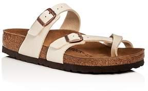 Birkenstock Women's Mayari Birko-Flor Metallic Buckled Slide Sandals