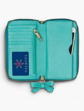 Talbots Printed Leather Zip Around Wallet