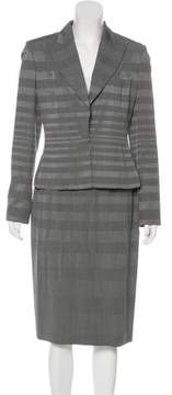Christian Dior Peak-Lapel Skirt Suit