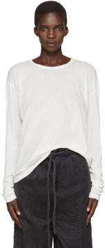 LAUREN MANOOGIAN Off-White Vellum T-Shirt