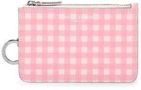 Henri Bendel West 57Th Gingham Mini Zip Coin Purse