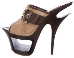 Gianmarco Lorenzi Platform Slide Sandals