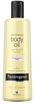 Neutrogena® Body Oil - Light Sesame Oil Formula Fragrance Free - 8.5 fl oz