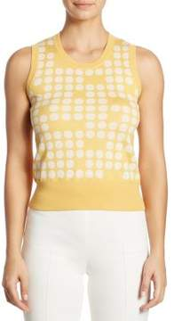 Akris Punto Polka Dot Wool Top