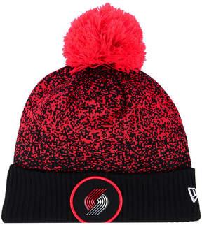 New Era Portland Trail Blazers On-Court Collection Pom Knit Hat