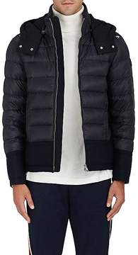 Moncler Men's Wool-Trimmed Down-Quilted Coat